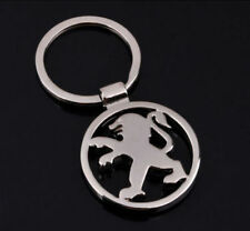 Peugeot Metal car styling key ring key chain fob holder car accessories