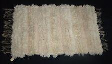 Vtg 70s Mid Century Modern Hand Woven Wool Linen Rug Wall Hanging Carol Roggow