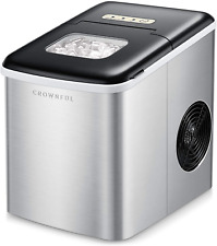 Crownful Ice Maker Machine for Countertop, 9 Ice Cubes Ready in 8-10 Minutes, 26