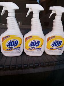 3 bottles Formula 409 Multi Surface Cleaner Lemon Fresh 3/32oz Kills 99.9%
