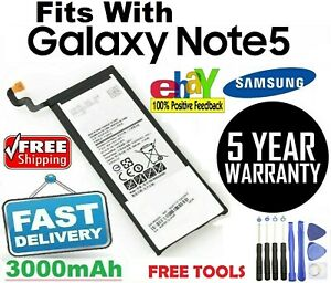 New battery Fits With Samsung Galaxy Note 5 Battery Replacement EB-BN920ABA TOOL