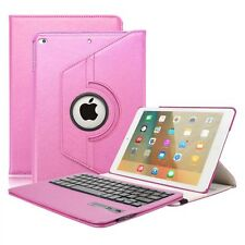 360 Rotating Leather Folio Case Cover & Bluetooth Keyboard for New iPad 9.7 2017