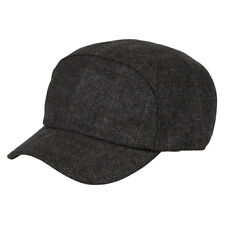 Heritage Traditions Womens Mens Grey Herringbone Tweed Skip Cap Hat