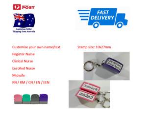 Custom Name Stamp Self inking stamp Registered Nurse Clinical Nurse RN EN Doctor
