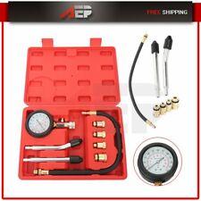 Car Motorcycle Engine Cylinder Compression Tester Set Pressure Gauge Meter Tool