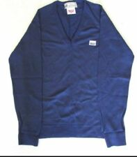 Wool Patternless Blue Jumpers & Cardigans for Men