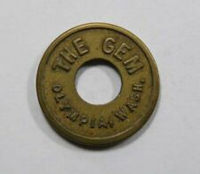 Olympia, Washington State THE GEM 5 Cents in trade Token VERY RARE
