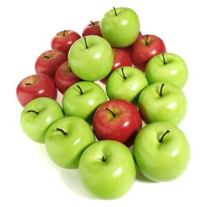 10pcs Silmulated Red Green Apples Fruits Kitchen Photographic Prop Home Decor