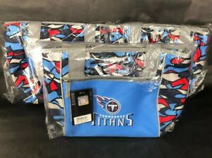 Tennessee Titans 16 Can Cooler Tote Bag Insulated NFL blue front & top zipper