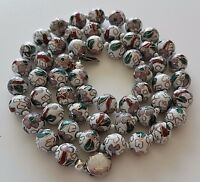 """Vintage Chinese Export Cloisonne  Bead Necklace  21"""""""