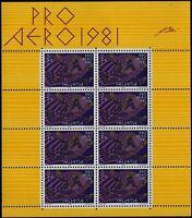 Svizzera - 1981 - PRO AERO -  Minifoglio nuovo MNH - Unificato A48