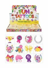 24 x PONY PONIES TEMPORARY TATTOOS GIRLS FAVOR LITTLE BIRTHDAY PARTY BAG FILLERS