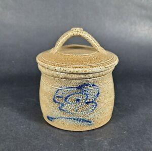 Redwing Pottery Butter Bell BUTTER KEEPER Crock Gray and Blue Salt Glaze MC