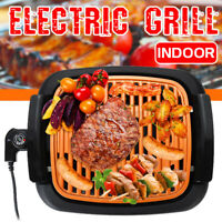 Smokeless Electric Grill Portable Nonstick Indoor Outdoor BBQ Barbecue
