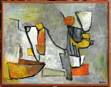 Ilse Tauber (1918-?) Expressionist Abstract Original Oil Painting Crusaders