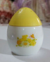 "VINTAGE AVON COLLECTABLE PERFUME BOTTLE "" MILK GLASS EGG SALT SHAKER"" FULL"