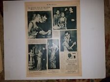 Melody Casino Theatre Evelyn Herbert 1933 Play of the Week MW Pictorial Sheet