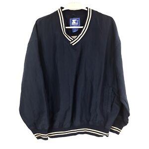 Vintage Starter Mens L Large Blue Sweatshirt Adult Pullover Made in USA