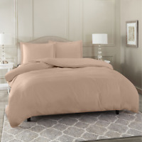 Duvet Cover Set Soft Brushed Comforter Cover W/Pillow Sham, Taupe - Full