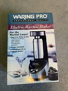 Waring Pro Professional Electric Martini Maker, Black & Chrome model WM007 New