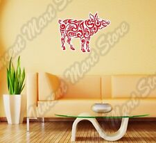 """Cheerful Red Pig Boar Abstract Colorful Wall Sticker Room Interior Decor 25""""X20"""