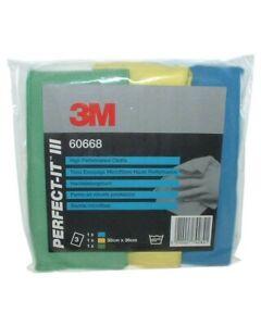 3M Perfect-It III 60668 High Performance Cloths (3 Pack) 36cm x 32cm