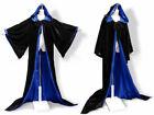 Hooded Velvet Wizard Cloak/Cape Men Halloween With Sleeves Robe Various colours
