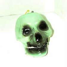 Plastic Hanging Halloween Skull; Sound activated, Shakes and lights up