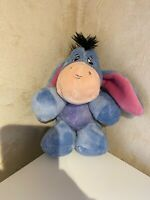 Disney Winnie the Pooh Blue Pink Bow Tail Eeyore Soft Toy Plush Christmas Gift
