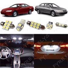 9x White LED lights interior package kit for 1998-2002 Honda Accord HA3W