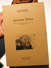 VERLAINE/OEUVRES LIBRES/50 POINTES SECHES DE R.DESCOMBES/VERS 1970/CURIOSA