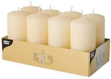 PAPSTAR 17981 Pillar Candles Ø 50 x 100 mm – Pack of 8 – Cream