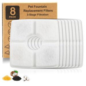 8x Ersatzfilter für Katzen Trinkbrunnen Fountain Ersatzfilter mit Har&Aktivkoh