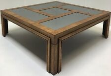 Vintage Mid Century Brutalist Modern Paul Evans Era Mirrored Coffee Table Cubist