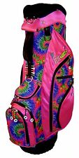 Pink Tie Dye Ladies Golf Bag Birdie Babe Womens Hybrid Cart Golf Bag