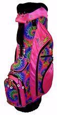Pink Tie Dye Ladies Golf Bag Birdie Babe Womens Hybrid Cart Golf Bag