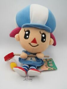 """Animal Crossing A1709 Villager Girl Sanei 2005 Plush 8"""" TAG Toy Doll japan"""
