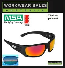 MSA Z5 Gold Lens Polarised Hi Quality Safety Glasses Impact Rated.