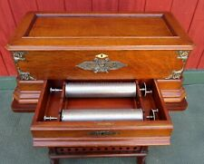 Rare Antique Swiss Mermod Freres Ideal Sublime Harmony Cylinder Music Box wTable