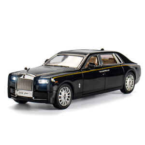 1/24 Scale Rolls-Royce Phantom Diecast Model Car Toy Collection Sound Light Gift