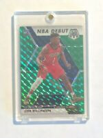 Zion Williamson 2019-20 Panini Mosaic #269 Rookie Card NBA Debut Green Prizm
