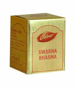 Dabur Swarna / Suvarna / Gold Bhasma / Herbal Remedy // 125 mg + Free Ship