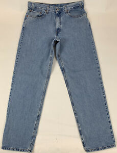 Vtg 90's Levi's Men 550 Jeans Relaxed Fit Taper Leg Cotton Faded Size 38 x 33