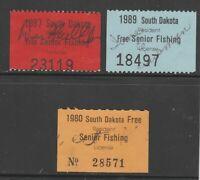 USA State Fiscal Cinderella revenue stamp ML-580 South Dakota