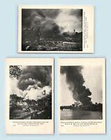 Cedar Rapids, IA - 1919 EXPLOSION FIRE DISASTER POSTCARD LOT (3) - D1