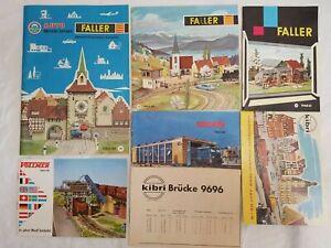 LOT of (6) 1960's HO / N CATALOGS FALLER, VOLLMER, KIBRI 1960 - 61, 1963 - 1966