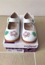 Girls Shoes Pediped Mary Jane Barefoot Sole, white, size 25 / 7.5