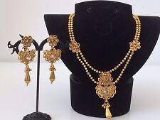 Bollywood Indian Imitation Jewellery/ Party Wear/ Small Gold Choker Diamanté Set