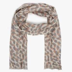 Morgan & Oates Tan Leopard Scarf/Wrap  Merino/Cashmere