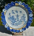 """RARE LARGE 13"""" ANTIQUE 18thC LAMBETH DELFT CHARGER DISH - WILLIAM GRIFFITHS"""